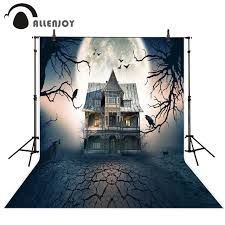 halloween full moon photography background popular backdrop haunted buy cheap backdrop haunted lots from