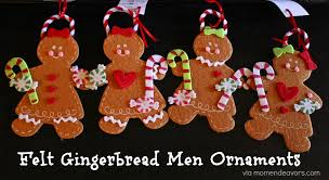 gingerbread ornaments felt gingerbread men ornaments