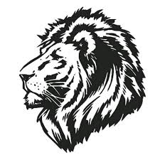 white tiger home decor black lion head animal style decal wall sticker mural art home
