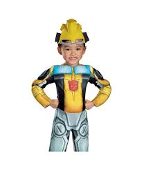 Bumble Bee Halloween Costume Bumblebee Rescue Bot Muscle Kids Movie Halloween Costume Boys