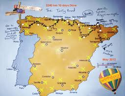 Camino Frances Map by The Tasty Pilgrims Route Eating Your Way Backwards Through The
