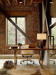 Exposed Brick Wall by Trendy Textural Beauty 25 Home Offices With Brick Walls