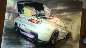 nissan silvia drawing nissan silvia s15 drawing youtube