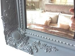 grey satin shabby chic ornate decorative over mantle gilt wall mirror
