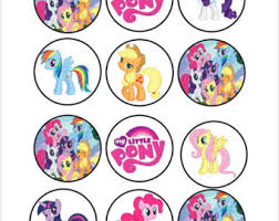 my pony cupcake toppers pinkie pie cupcake etsy