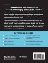 buy construction operations manual of policies and procedures