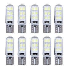 car dome light bulbs 10pcs t10 w5w led car interior light 2835 12smd l bulb wedge