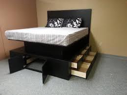 Black Wooden Bedroom Furniture Bedroom Reclaimed Wood Platform Bed Ikea For Rustic Bedroom