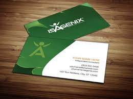 Networking Business Card Examples Isagenix Business Card Design 1