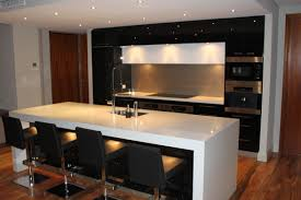 kitchen bar white modern concrete engineered stone countertops