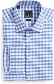 david donahue fancy twill check trim fit dress shirt where to