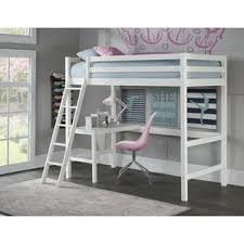 Loft Bunk Beds White Loft Bed With Desk Size Bed Bunk Beds White Bunk Beds