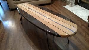 mid century modern surfboard coffee table buy a custom made surfboard coffee table old 60