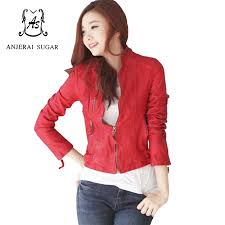online get cheap red genuine leather jacket aliexpress com