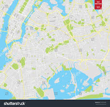 Map Of New York by Vector Color Map New York City Stock Vector 547592359 Shutterstock