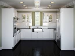 Kitchen Ideas White White Kitchen Cabinets Dark Tile Floor Outofhome