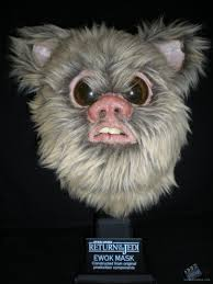 ewok mask movie prop from star wars episode vi return of the