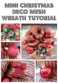 deco mesh ideas mini christmas deco mesh wreath tutorial big s