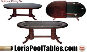 Poker Table Pedestal 84 U0027 U0027 Pedestal Poker Table With Optional Dining Top Loria Awards