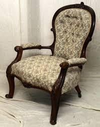 Queen Armchair Victorian Antique Queen Anne Style Spoon Back Armchair