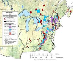 Map Of Illinois And Indiana by White Nose Syndrome Map White Nose Syndrome