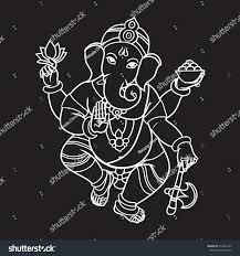Invitation Cards For Ganesh Festival Cartoon Vector Elephant Head God Ganesha Stock Vector 312364145