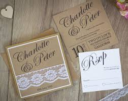 Rustic Vintage Wedding Invitations Rustic Wedding Invitation Etsy Uk