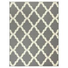 3x5 Area Rug Ottomanson Collection Contemporary Moroccan Trellis Gray 3