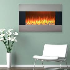36 wall mounted electric fireplace heater backlight with pebbles s
