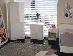 two tone white high gloss 3 piece bedroom furniture set amazon co