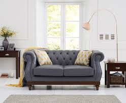 cheap chesterfield sofa casalivin harlyn bay grey leather chesterfield sofa with ash