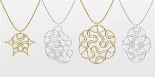 design your own necklace 3ders org hexatope design your own 3d printed pendant in silver