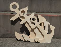wooden anchor wall wood anchor diy unfinished sanded and ready for paint wood