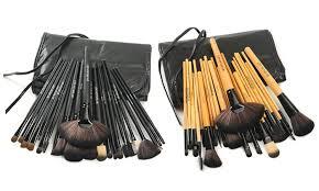 makeup brush set 24 piece makeup brush set with vegan leather case