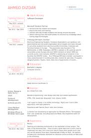 Extra Curricular Activities In Resume Examples by Software Developer Resume Samples Visualcv Resume Samples Database