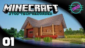 stud tech reloaded ep 1 how to build a guest house minecraft