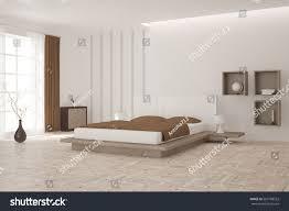 scandinavian style white interior design bedroom scandinavian style stock
