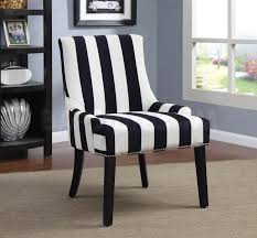 Living Room Seating Furniture Black And White Wing Chairs Black White Armless Upholstered