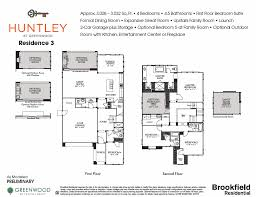 Residences Evelyn Floor Plan Residence 3 Huntley At Greenwood In Tustin