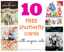 10 free shutterfly cards ends 10 2 cards