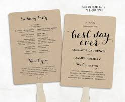 diy wedding programs template printable wedding program template fan wedding by vinewedding