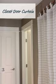 Curtain As Closet Door My