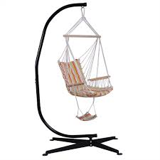Hammock Chair And Stand Combo Costway C Hammock Frame Stand Solid Steel Construction Walmart Com