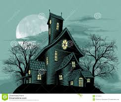 creepy haunted ghost house scene illustration stock image image