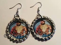 mr t earrings mr t bottle cap earrings a team mr t i pitty the fool mr