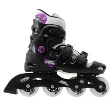 womens roller boots uk no fear womens inline skate roller skates black purple uk 5