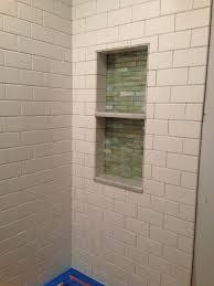 shower niche with marble heywood master bath pinterest