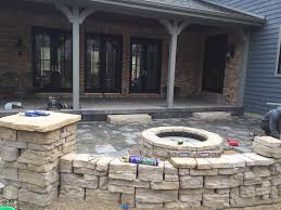 Patio With Firepit Patio With Fire Pit Clearbrook Landscaping And Lawncare Llc
