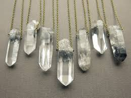 crystal quartz stone necklace images Tibetan quartz necklace healing crystal necklace phantom jpg