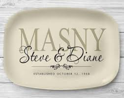 personalized serving platter ceramic wedding platter etsy
